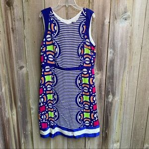 Signature by Robbie Bee Blue Patterned Dress | 10
